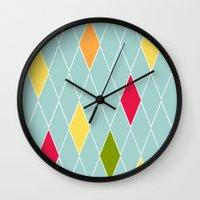 rio de janeiro Wall Clocks featuring Rio de Janeiro by Menina Lisboa
