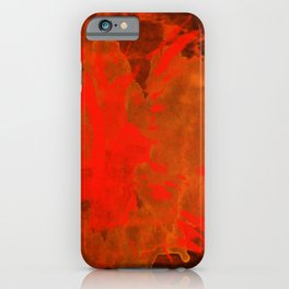Mosaic Grunge in Orange iPhone Case
