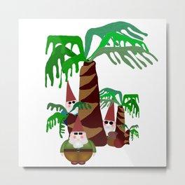Beach Gnomes Metal Print