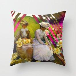 Summer Lotus Throw Pillow