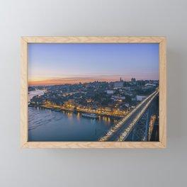 Porto from Serra do Pilar. Framed Mini Art Print