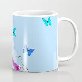 BLUE BUTTERFLIES & PURPLE MORNING GLORIES Coffee Mug