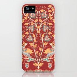 Tree with Flowers and Birds. Kalamkari. iPhone Case