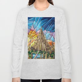 Asgard stained glass style Long Sleeve T-shirt