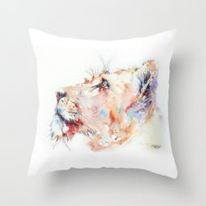I belong in Africa ... Lion Throw Pillow