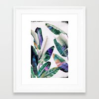 tropical Framed Art Prints featuring tropical #1 by LEEMO