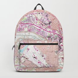 Vintage Map of Dallas Texas (1958) Backpack