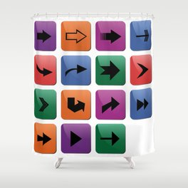 Arrow sign collection Shower Curtain