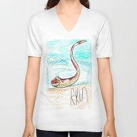 monty python V-neck T-shirts featuring The Python by Ryan van Gogh