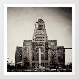 Down Town Buffalo NY city hall Art Print