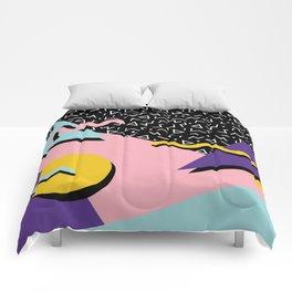 Memphis Pattern 23 - 80s Retro - Pastel Colors Comforters