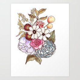 Floral Arrangement 2 Art Print
