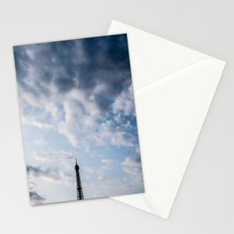 A Peek of the Eiffel Tower Paris France Stationery Cards