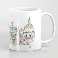 rome Mugs featuring Rome by Ursula Rodgers
