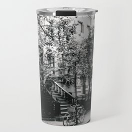 New York City - West Village Street and Bicycles Travel Mug