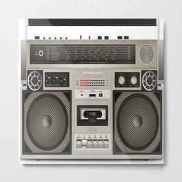 Old Tape Radio Metal Print