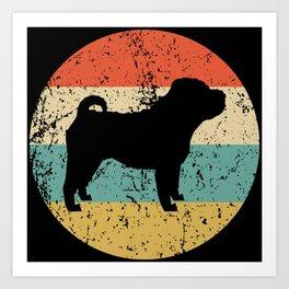 Shar Pei Vintage Retro Shar Pei Dog Art Print