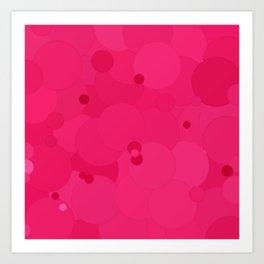 Raspberry Sorbet Bubble Dot Color Accent Art Print