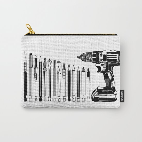 Art Power Tools Drill Bit Set Doodle Carry-All Pouch