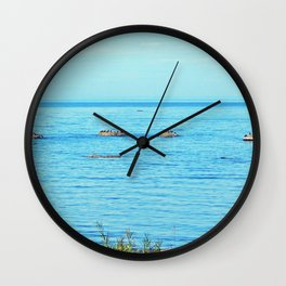 Circle of Rocks, The Cormorants and the Whale Wall Clock