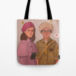 Sam and Suzy (Moonrise Kingdom by Wes Anderson) Tote Bag