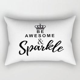 Positive Sparkle Vibes Rectangular Pillow
