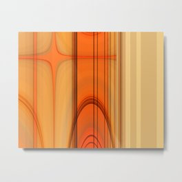 Retro Art orange Metal Print