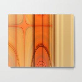 Retro Art orange Metal Print