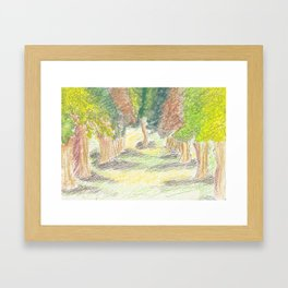 Squiggly Trees Framed Art Print