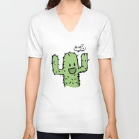hug V-neck T-shirts featuring Hug? by UNDeRT4keR