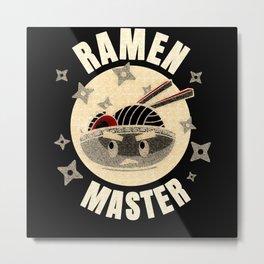 Japanese Ramen Master Funny T Shirt Metal Print