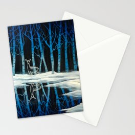 """""""The Forest of Dean"""" (Bob Ross-style Patronus Painting) Stationery Cards"""