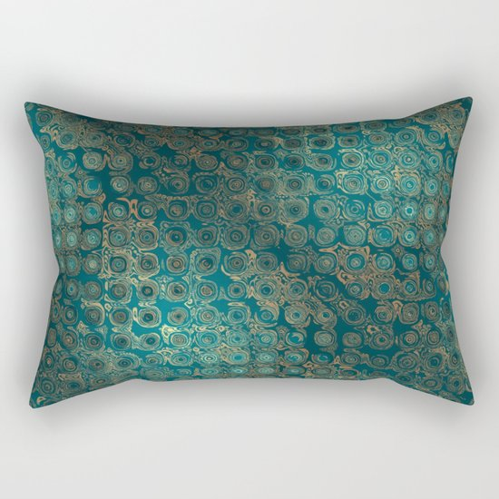 Retro Circles Rectangular Pillow
