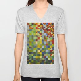 This Grid Is From Somewhere Within Me Unisex V-Neck