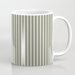Trendy French Beige Mattress Ticking Black Double Stripes Coffee Mug