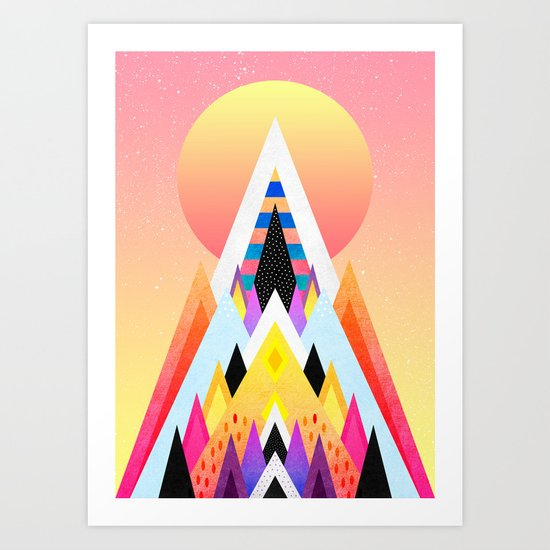 Bubblegum Mountain Art Print