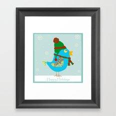 Happy Holidays Birdie Framed Art Print