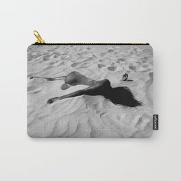 'All of Me' reclining nude brunette female form black and white photograph / art photography  Carry-All Pouch
