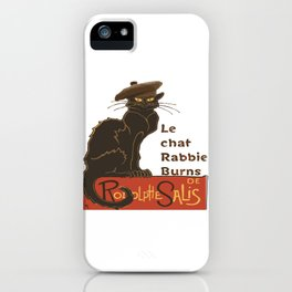 Le Chat Rabbie Burns With Tam OShanter iPhone Case
