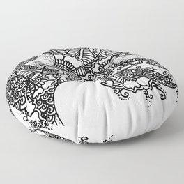 Zen Tree Rebirth White Right Half Floor Pillow