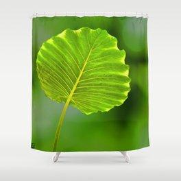 Bokeh Leaf Shower Curtain