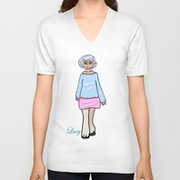 lucy V-neck T-shirts featuring Lucy by Clover