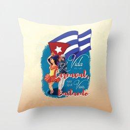 Cuban Carnaval Dancing Throw Pillow