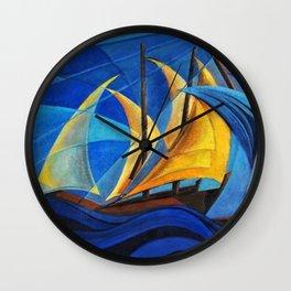 Vele al vento Amalfi Coast, Italy by Pippo Rizzo Wall Clock