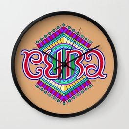 """""""CUBA"""" Wall Clock"""