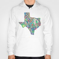 texas Hoodies featuring Texas by Laura Maxwell