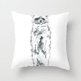 Wild Racoon Throw Pillow
