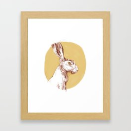 Yellow Hare Framed Art Print