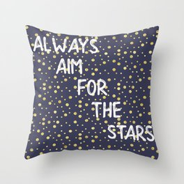 Always Aim For The Stars Wall Tapestry Throw Pillow