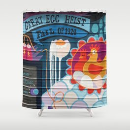 The Great Egg Heist Shower Curtain